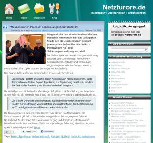 Artikel auf netzfurore.de